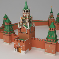 Moscow Kremlin Lowpoly