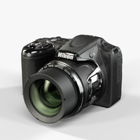 3d low-poly nikon coolpix l820