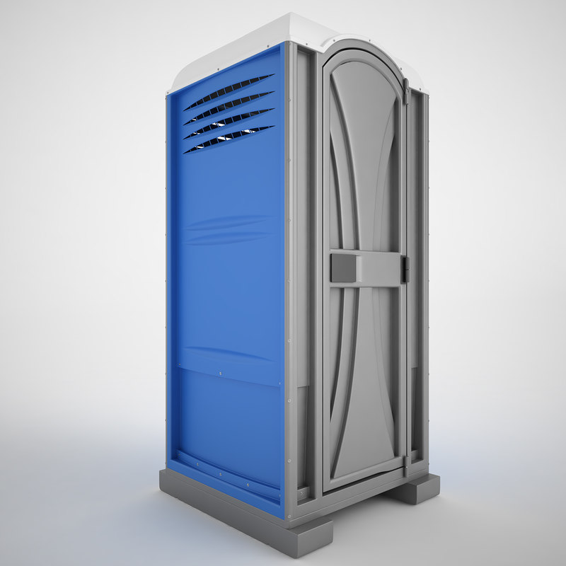 Portable toilet porta 3d model - Toilet model ...