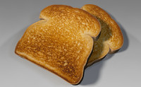 3d toast bread breakfast