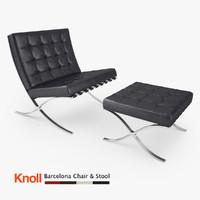 maya knoll barcelona chair