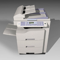 copy machine 3d model