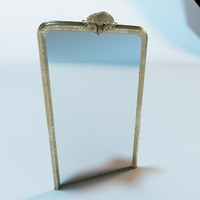 3d antique mirror model