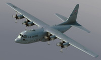 3d lockheed c-130 hercules model