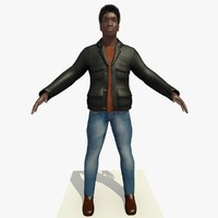african male man black 3d model