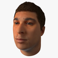 3d male head 20 hair model