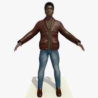 african male man brown 3d c4d