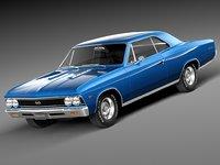 3d 1966 chevrolet ss model