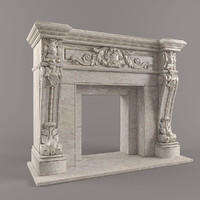 fireplase arriaga 3d model