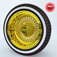 3d dayton wheel model