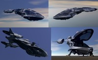 maya scifi vehicles flying