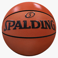 basketball ball basket 3d x