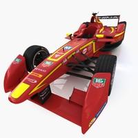 team china formula e 3d model