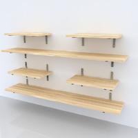 shelf wall 3d model