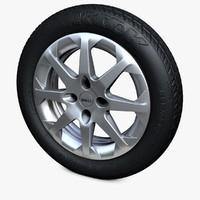 3d model wheel tires