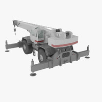 3d model rough terrain crane