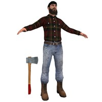 3d lumberjack man