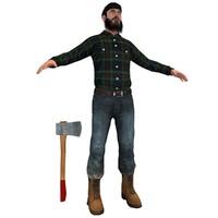 maya lumberjack man