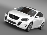 3d buick regal gs 2011-2013 model