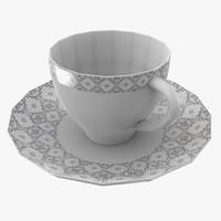cup saucer 3d x