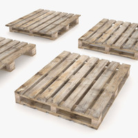 3d model of 4 ways pallets -