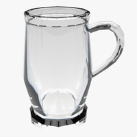 glass tankard 3d model