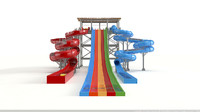 waterslide water slide 3d model