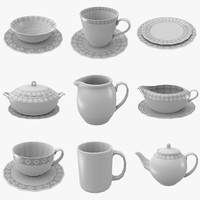 3dsmax kettle cup saucer