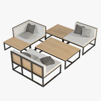 3d lounge furniture model