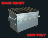 3d dumpster ready games polys model