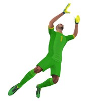 Soccer Goalkeeper Rigged