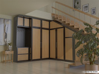 cabinet corner wardrobe 3d model