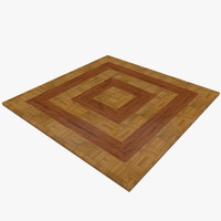 3d model floor inlay