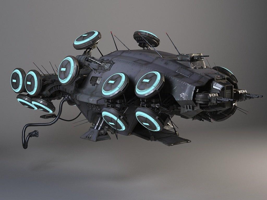 3d movie space ship model
