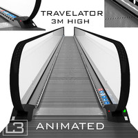 max realistic travelator 3m animation