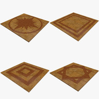 modular inlay floors 3d model