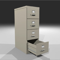 Filing Cabinet with Opening Drawers