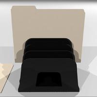 3d model manila folder holder