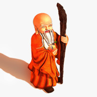 chinese buddhist shou xing 3d max