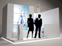 3d exhibition stand 4x3
