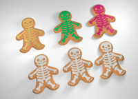 3d model gingerbread man halloween