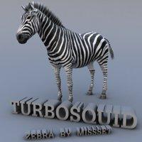 3d zebra horse