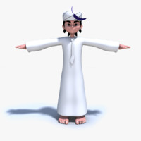 arab character boy 3d obj