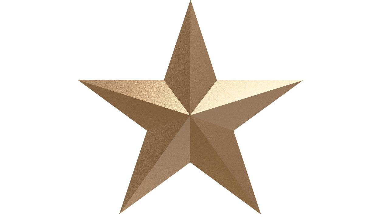 Free star 3d model for 3d star
