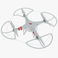 dji phantom 2 quadrocopter 3d obj