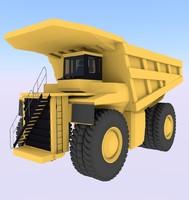 truck dump mining 3d 3ds