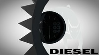 3d watch diesel model