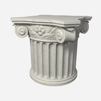 3d pedestal antique