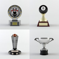 trophy award cup 3d 3ds