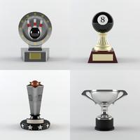 trophy award cup 3d 3ds